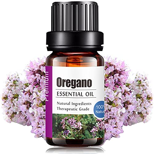 Aceites Esenciales de Aromaterapia - Natural 100% de Aceite Esencial Natural Conjunto de Difusores y Humidificadores con Caja de Regalo Exquisita (UVa Natural, 10 ML) (Oregano)