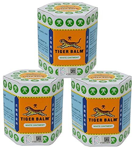 Tiger Balm 3 x 30 g blanco nuevo masaje y alivio del dolor original tailandés. Big Jar producto de Tailandia